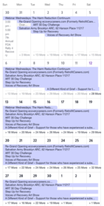 National Recovery Month Calendar